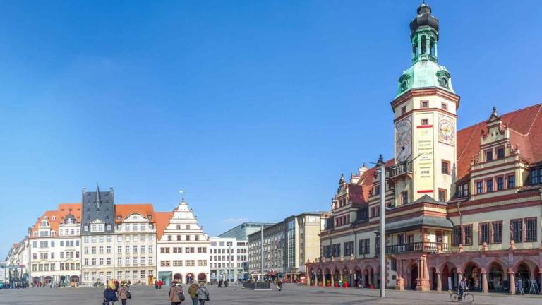 Der Campus Leipzig in der Nähe des Marktplatzes und des Hauptbahnhofs
