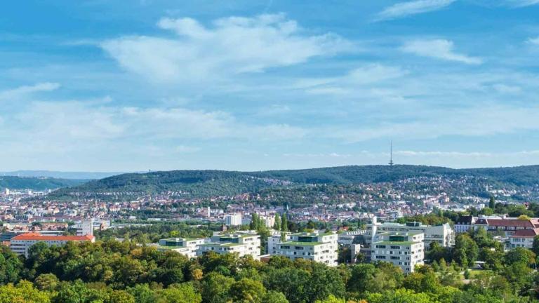 Stadtansicht Stuttgart für den Campus Stuttgart in Bad Canstatt